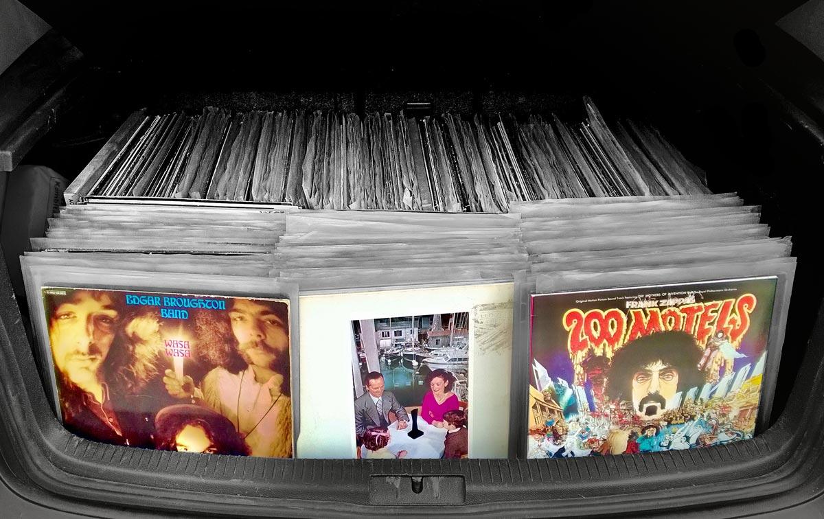 Kofferraum beim Ankauf von Schallplatten